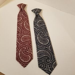 2 RETRO Fat Grants Snapper Clip-On Ties